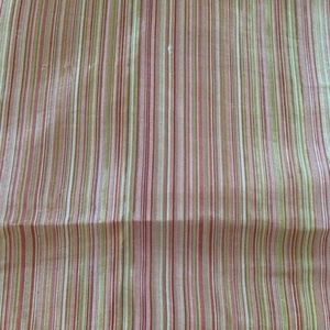 Cranberry Red/Gold Stripe Iridescent ShowerCurtain